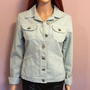 Carmim light blue jeans fitted jacket size medium